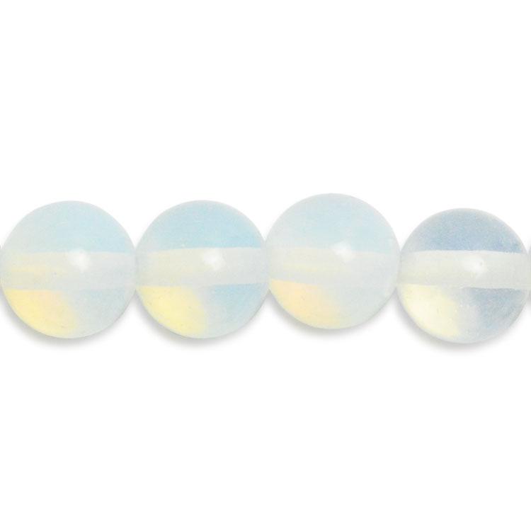 天然石 / ラウンド / ホワイトオパール(合成) / 4mm
