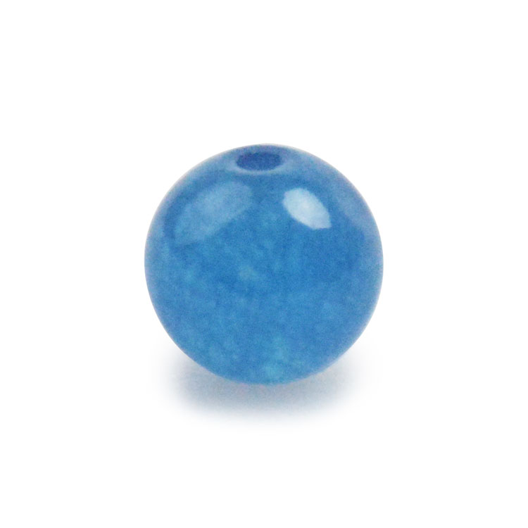 天然石 / ラウンド / カルセドニー(着色) ナイトブルー / 8mm / 6pcs