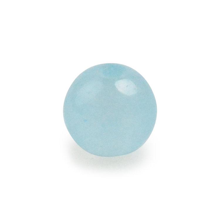 天然石 / ラウンド / カルセドニー(着色) ライトブルー / 6mm / 10pcs