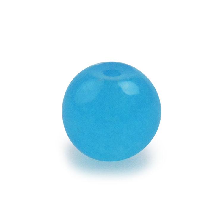 天然石 / ラウンド / カルセドニー(着色) ブルー / 8mm / 6pcs