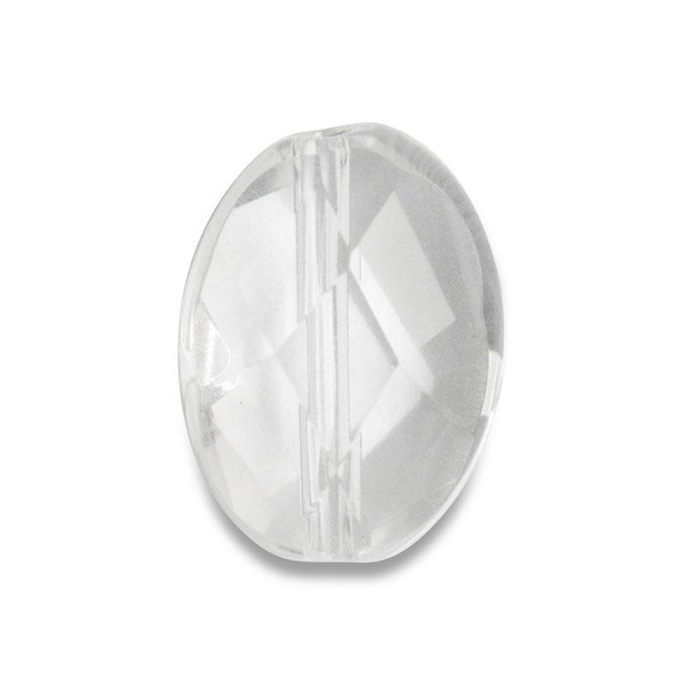 天然石 / オーバルカット(1穴タイプ) / 水晶 / 約14×10mm