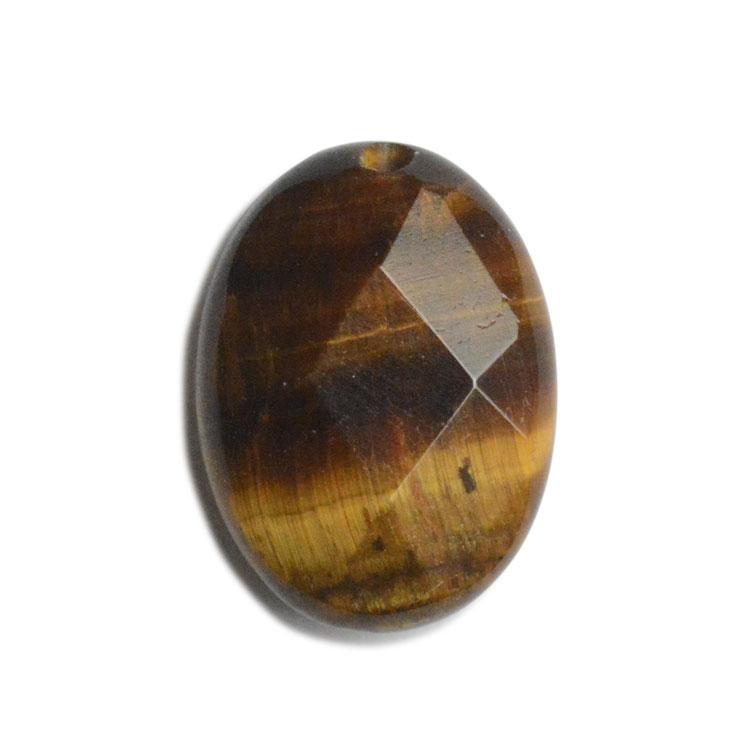 天然石 / オーバルカット(1穴タイプ) / タイガーアイ / 約14×10mm