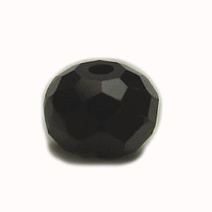 天然石 / ボタンカット / ブラックスピネル / 4×6mm