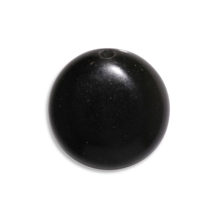 天然石 / コイン / オブシディアン / 約14mm