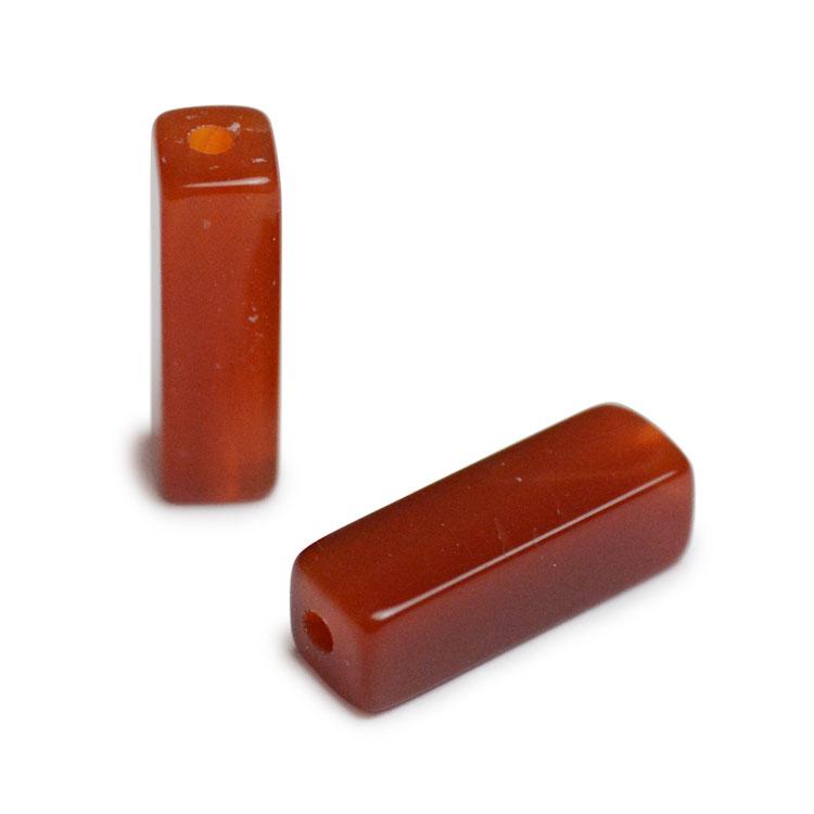 天然石 / 四角柱 / 赤メノウ / 約13×4mm