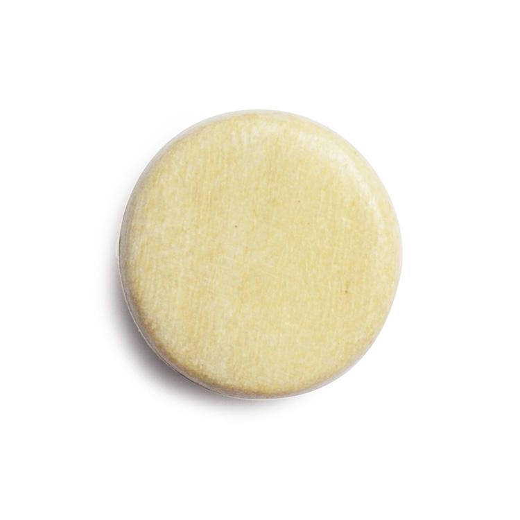 ウッドビーズ / コイン型(1133)/ ホワイトウッド