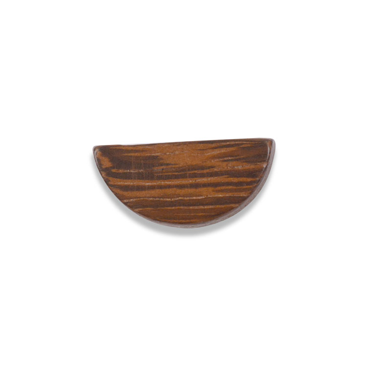 ウッドビーズ / ハーフムーン型(1236)/ ナチュラルブラウン / 約10×20mm