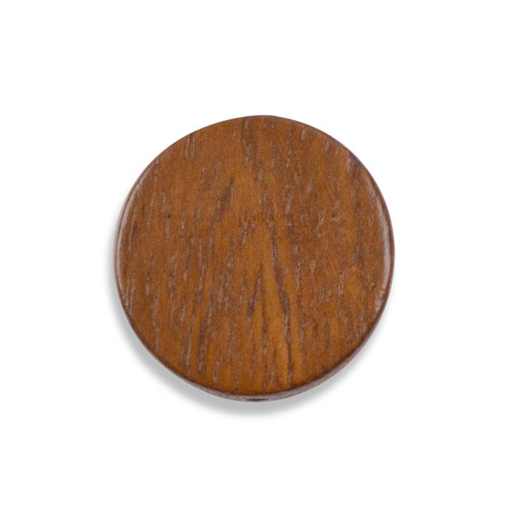 ウッドビーズ / コイン型(1238)/ ナチュラルブラウン / 約20mm