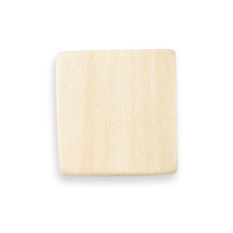 ウッドビーズ / 平四角型(1239)/ ナチュラルホワイト / 約18mm