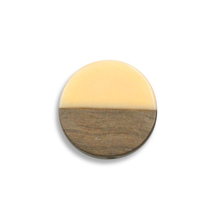 ウッド&アクリルビーズ / コイン(1280)/ 01 / 約20mm
