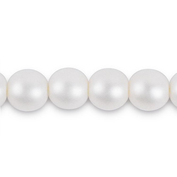パール / チェコガラスパール / ピュアホワイト(つや消し) / 6mm