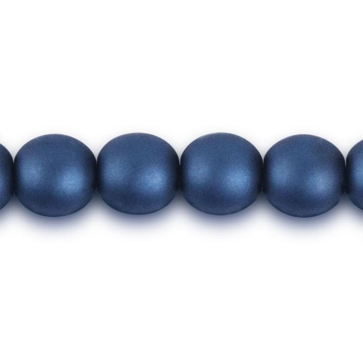 パール / チェコガラスパール / ディープブルー(つや消し) / 6mm