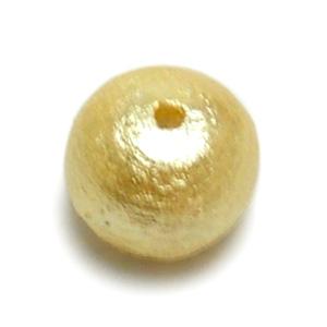 コットンパール(ラウンド) / シャンパンゴールド / 約16mm