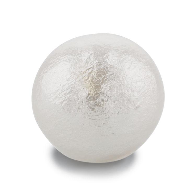 コットンパール(ラウンド・片穴) / ホワイト / 約10mm