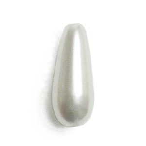 パール / 日本製プラスチックパール(しずく・縦穴) / ホワイト / 14×6mm