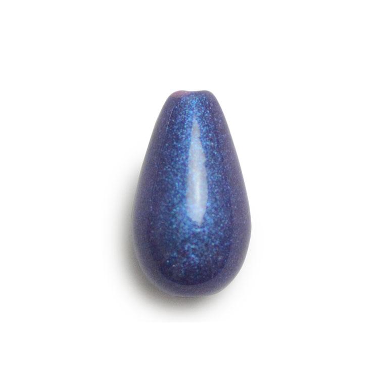パール / 日本製プラスチックパール(塗装 しずく・縦穴) / るりいろ / 12×7mm