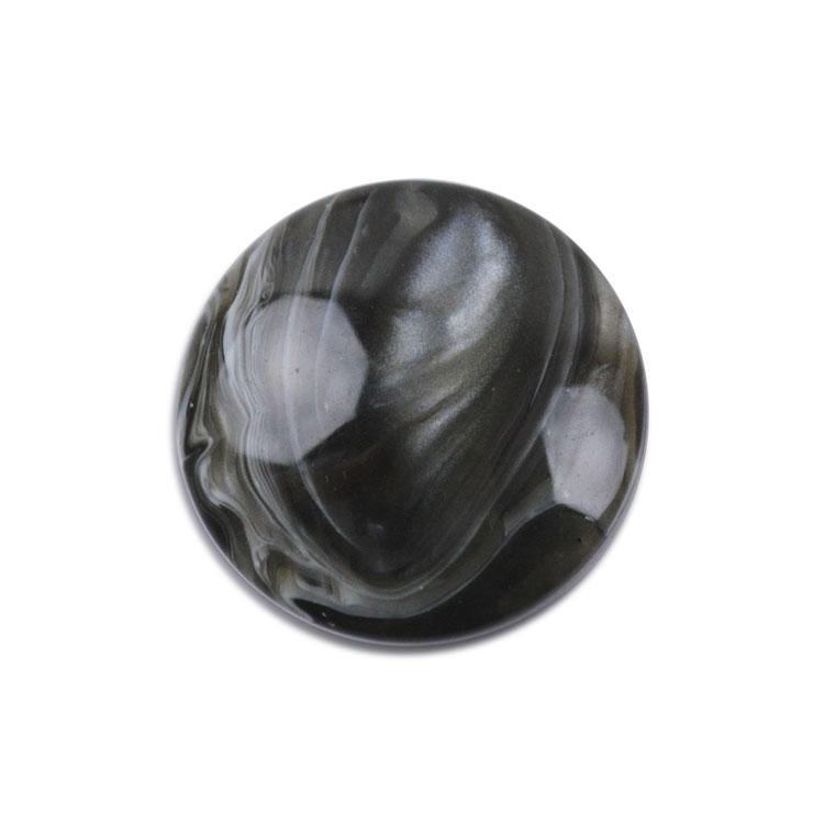 プラスチックパーツ / アクリル 平半丸(2702) / BK / 約18mm