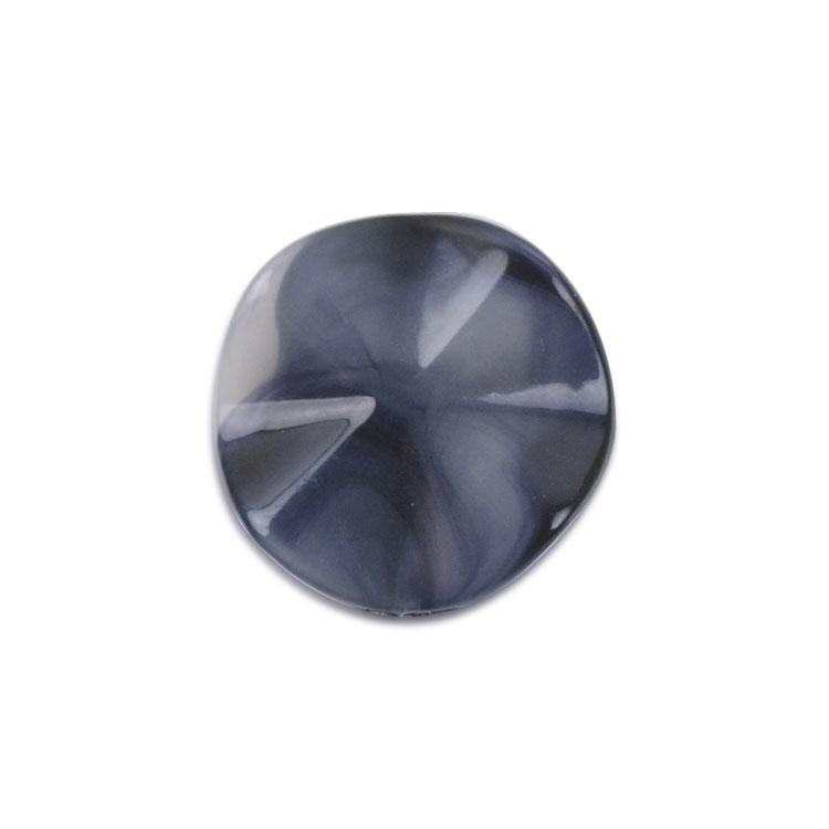 プラスチックパーツ / アクリルビーズ変型 / ラウンドウェーブ(3485)/ BU / 約25mm