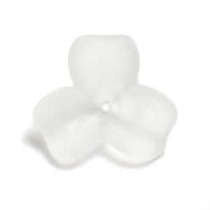 プラスチックパーツ / アクリルフラワー 3弁花(627) / CR / 約8mm