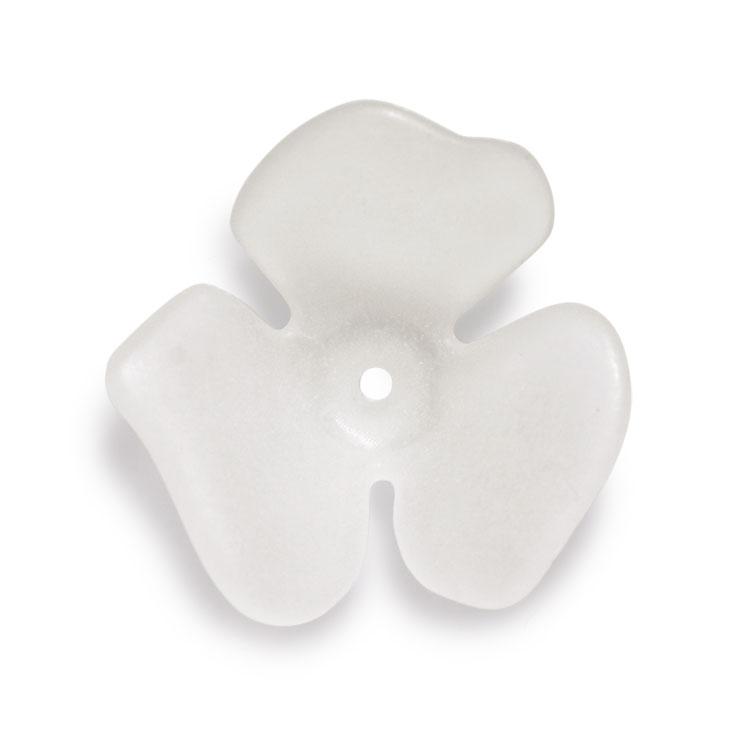 プラスチックパーツ / アクリルフラワー 3弁花(675) / CR / 約20mm