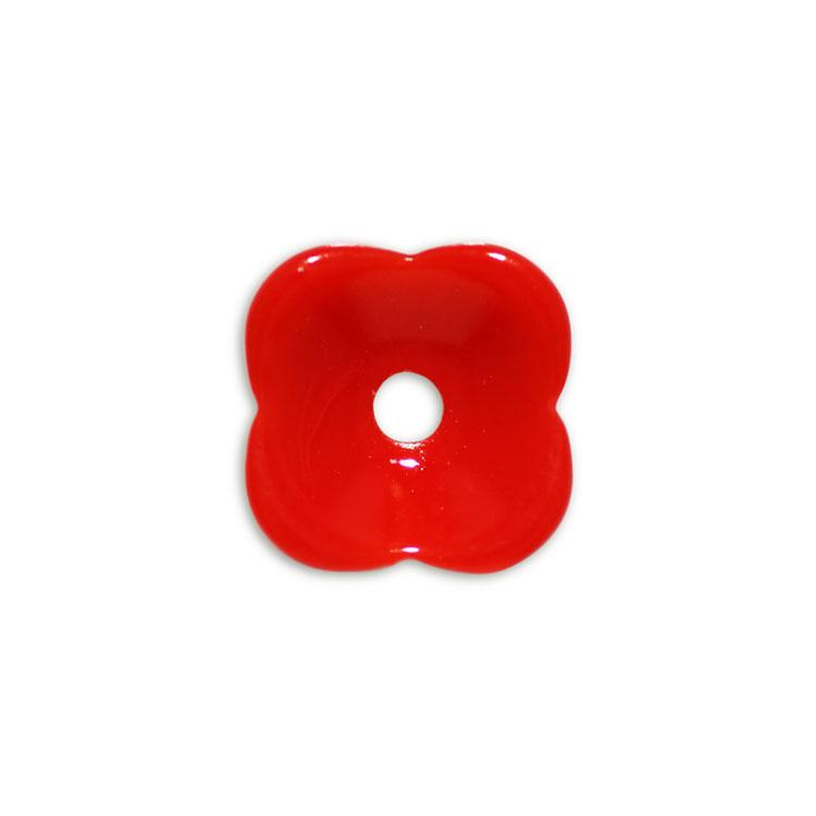 プラスチックパーツ / タイニーフラワー(677) / RD / 約6mm