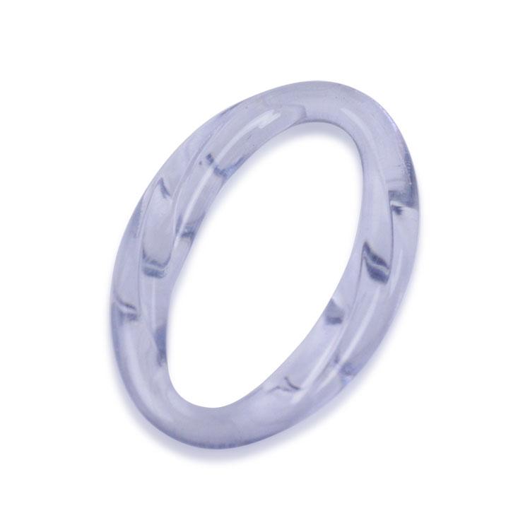プラスチックパーツ / アクリルフープ(ツイスト・778) / PU / 約31×21mm