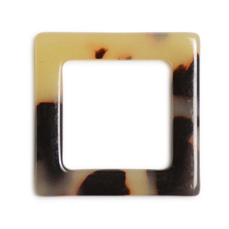 プラスチックパーツ / べっ甲柄アクリルプレート / フープ・スクエア(578) / GY