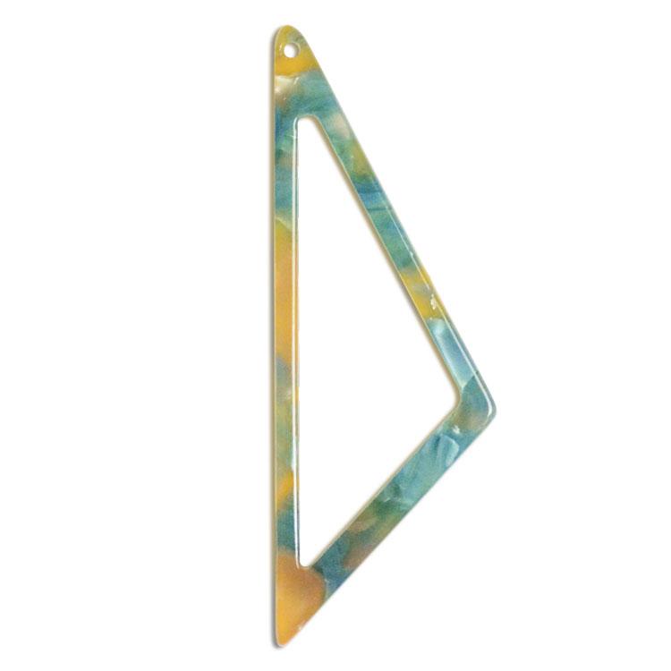 プラスチックパーツ / アクリル トライアングルフープ(トップホール・595) / 04 / 約46×16mm