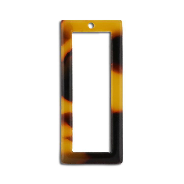 プラスチックパーツ / アクリル スクエアフープ(トップホール・608) / 02 / 約30×13mm