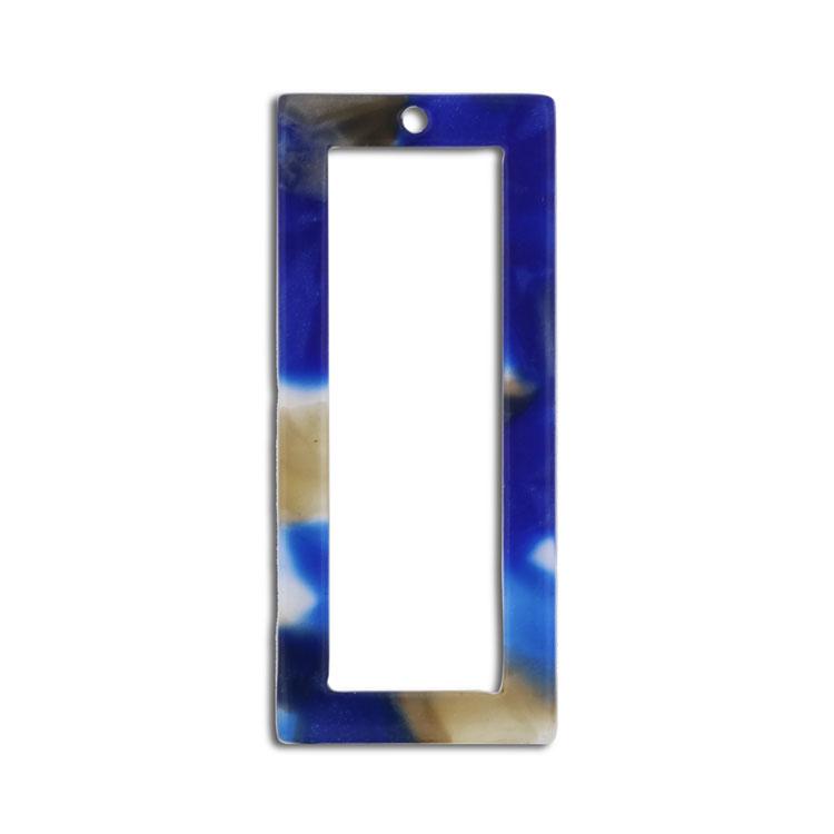 プラスチックパーツ / アクリル スクエアフープ(トップホール・608) / 03 / 約30×13mm