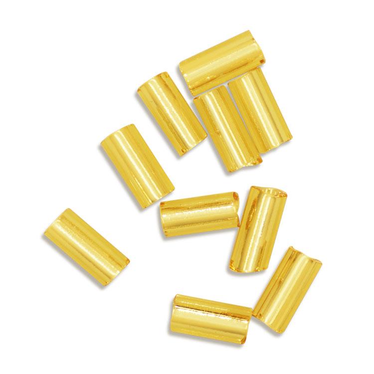 シードビーズ / MIYUKI 一分竹ビーズ / 金茶銀引(ゴールド#42)