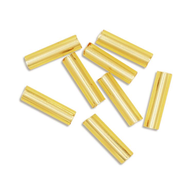 シードビーズ / MIYUKI 二分竹ビーズ / 金茶銀引(ゴールド#62)