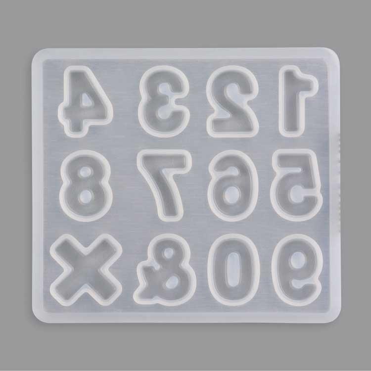 シリコンレジン型 / 数字(661)