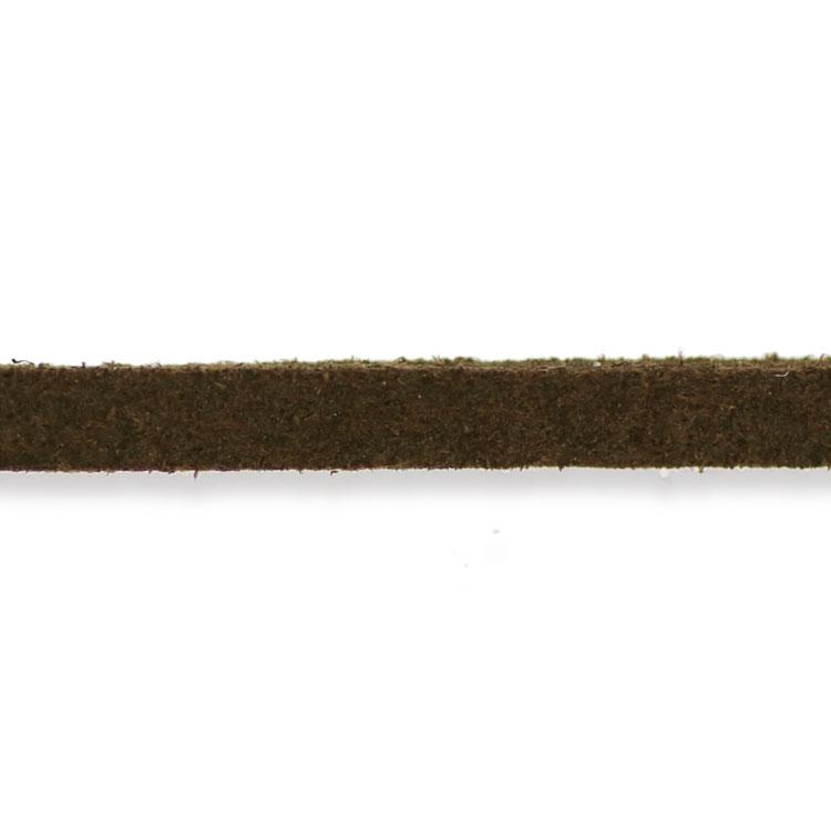 合成ひも(ダークブラウン・フラット幅約3mm) / 約90cm
