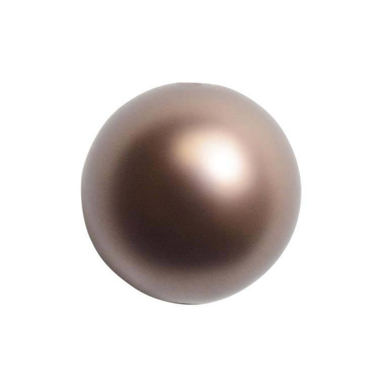 スワロフスキー・クリスタル#5810 ヴェルヴェット・ブラウン(パール) 6mm