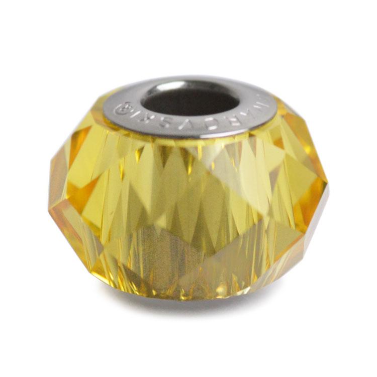スワロフスキー・クリスタル#5948 ライトトパーズ 14mm