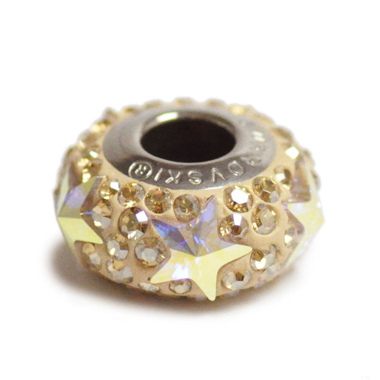 スワロフスキー・クリスタル#81 702 クリスタルゴールデンシャドー 13.5mm