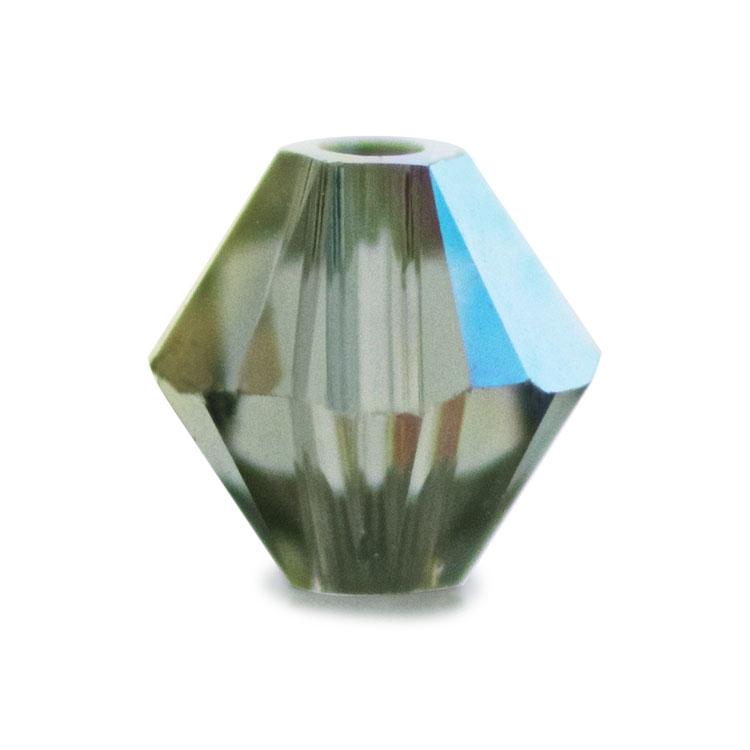 スワロフスキー・クリスタル#5328 ブラックダイヤモンドAB 4mm
