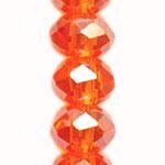 ガラスビーズ / ボタンカット / オレンジオーロラ / 4mm