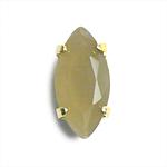 爪枠付きカットガラス / マーキス / オパールスモーキーブラウン・G / 約10×5mm