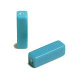 天然石 / 四角柱(縦穴) / ターコイズ(練り) / 約13×4mm