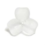 プラスチックパーツ / アクリルフラワー 3弁花(626) / CR / 約6mm