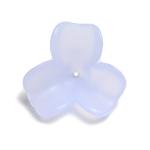 プラスチックパーツ / アクリルフラワー 3弁花(626) / LB / 約6mm