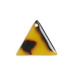 プラスチックパーツ / べっ甲柄アクリルプレート / トライアングル(575) / BR