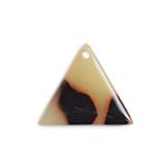 プラスチックパーツ / べっ甲柄アクリルプレート / トライアングル(575) / GY