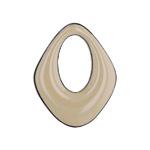 プラスチックパーツ / アクリルフープ(ダイヤ エポ付・710)/ BE / 約26×21mm