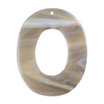 プラスチックパーツ / アクリルパーツ オーバルフープ(トップホール・728) / BE / 約50×40mm