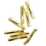 シードビーズ / MIYUKI ツイストビーズ / 金茶銀引(ゴールド・3) / 2.0×12mm