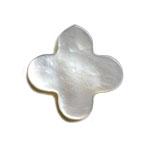 シェルパーツ / フラワー(縦穴) / 白蝶貝 / 約12mm
