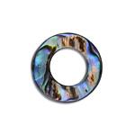 シェルパーツ / アバロンシェル / ラウンドフープ(通し穴有・779) / 01 / 約18mm